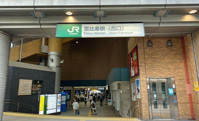 恵比寿駅(JR)からのアクセス