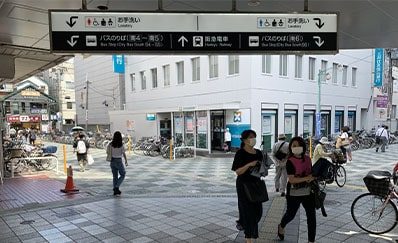 高槻駅(JR)からのアクセス